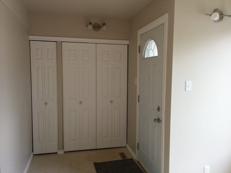 Three bedroom front entrance from kitchen