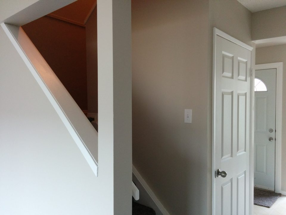Three bedroom stairs to second floor and basement